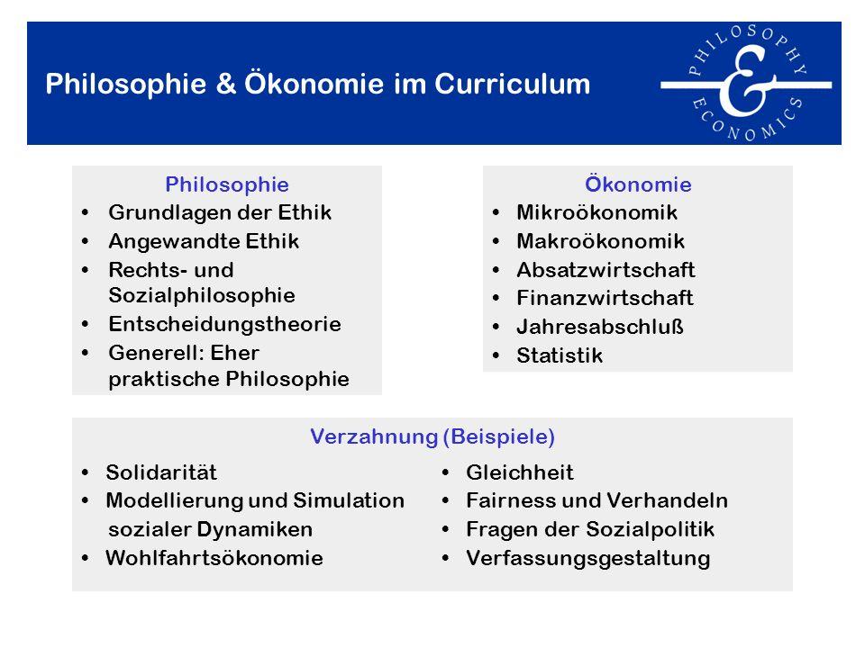 Philosophie & Ökonomie im Curriculum