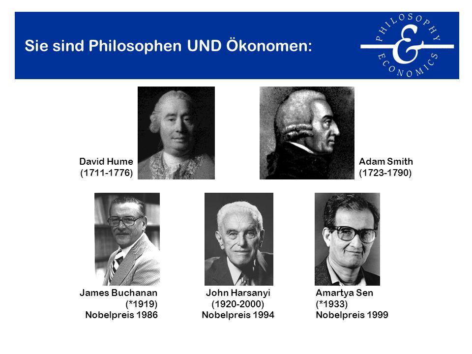 Sie sind Philosophen UND Ökonomen: