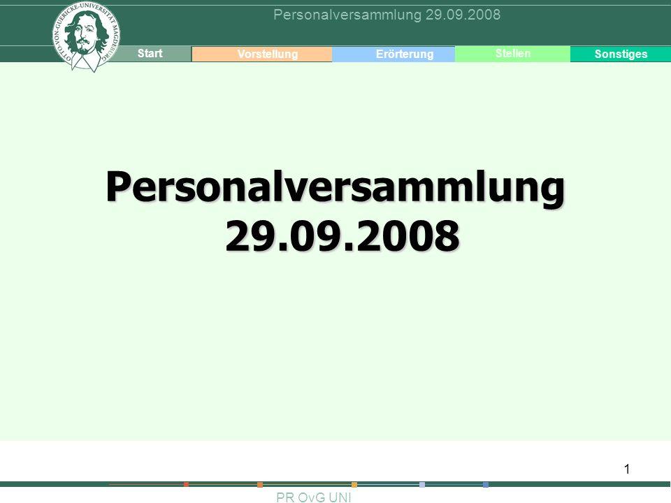 Personalversammlung 29.09.2008 Personalversammlung 29.09.2008