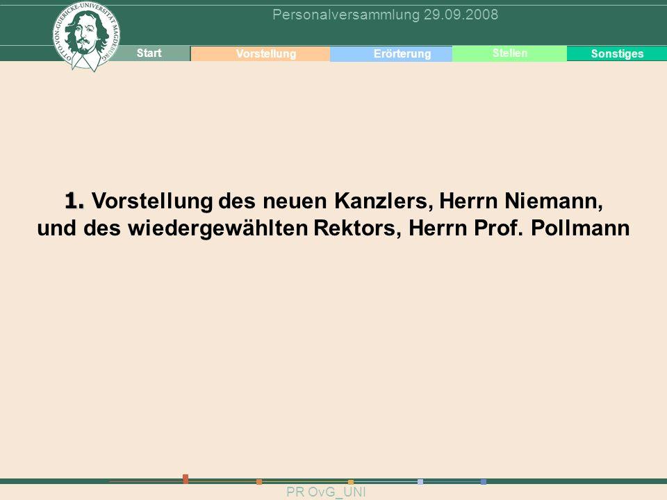 1. Vorstellung des neuen Kanzlers, Herrn Niemann,