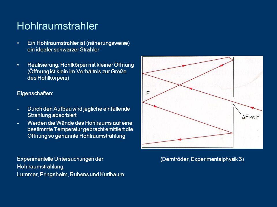 (Demtröder, Experimentalphysik 3)