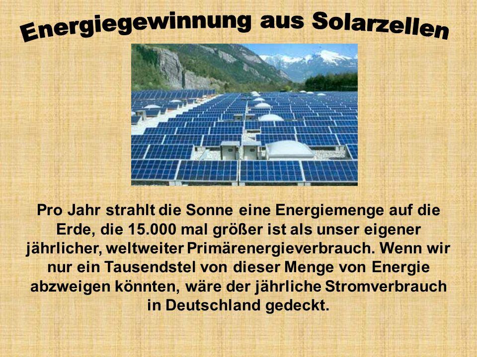 Energiegewinnung aus Solarzellen