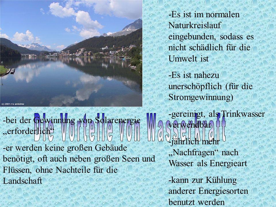 Die Vorteile von Wasserkraft