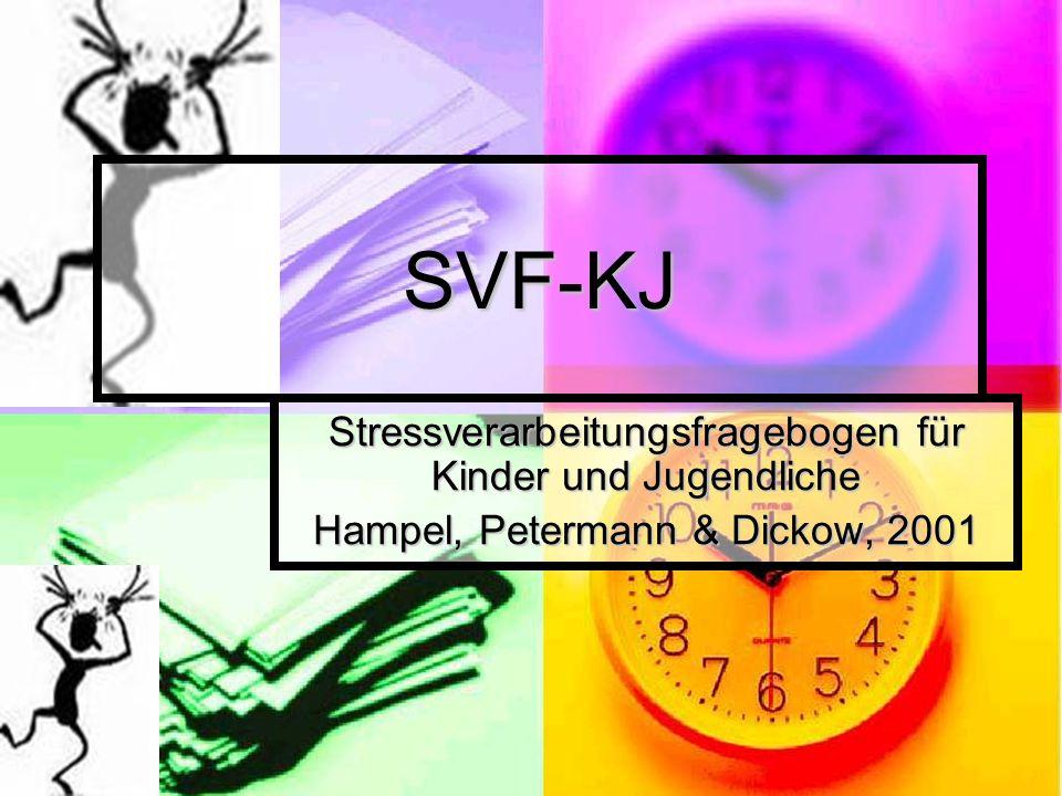 SVF-KJ Stressverarbeitungsfragebogen für Kinder und Jugendliche