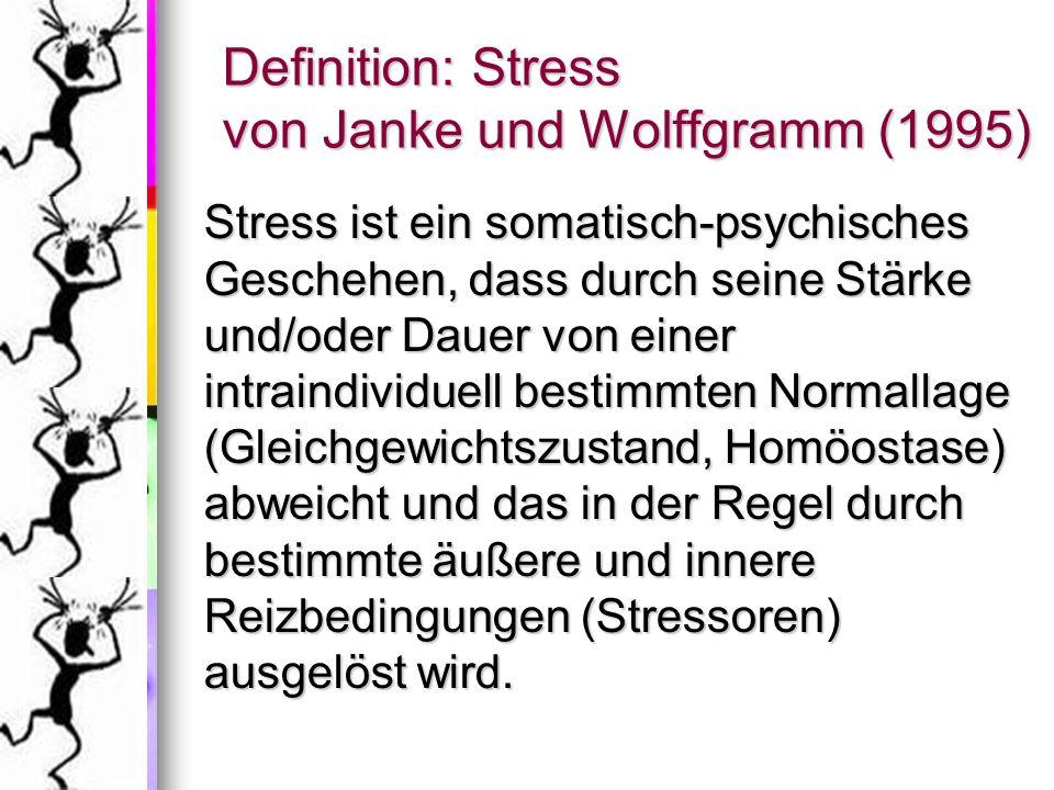 Definition: Stress von Janke und Wolffgramm (1995)