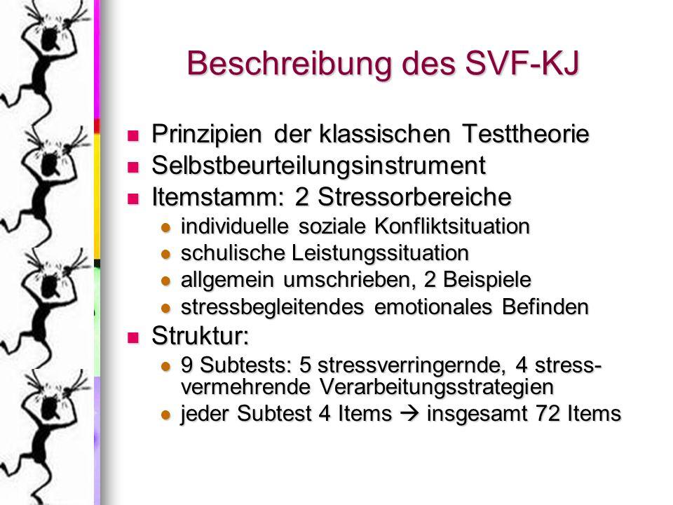 Beschreibung des SVF-KJ