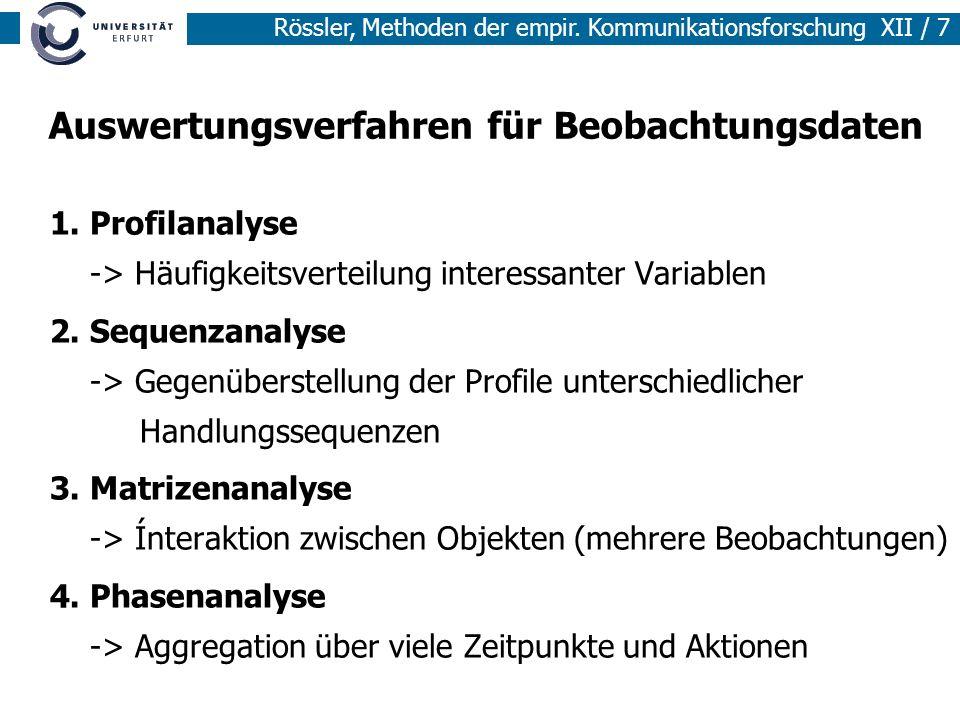 Auswertungsverfahren für Beobachtungsdaten