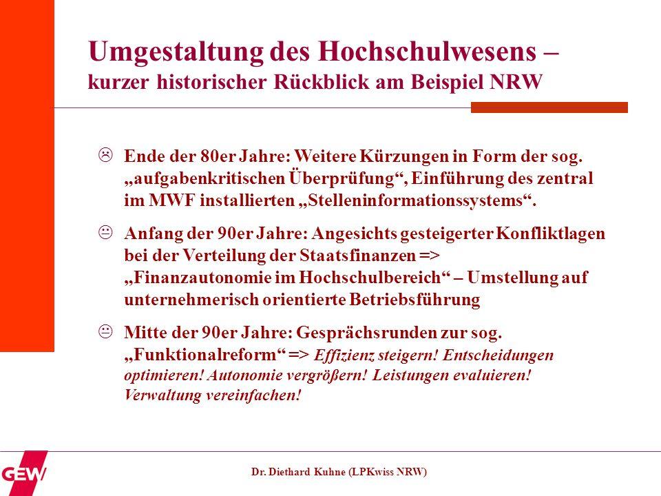 Umgestaltung des Hochschulwesens – kurzer historischer Rückblick am Beispiel NRW