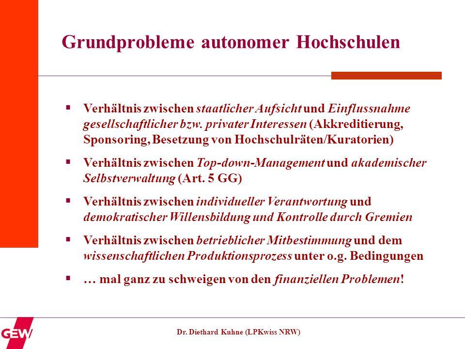 Grundprobleme autonomer Hochschulen