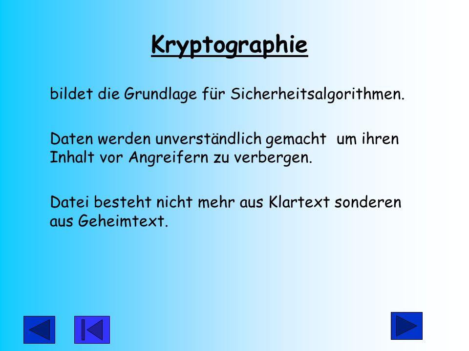 Kryptographie bildet die Grundlage für Sicherheitsalgorithmen.