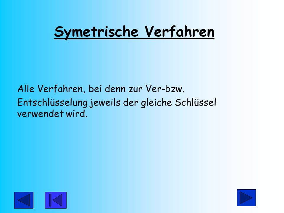 Symetrische Verfahren