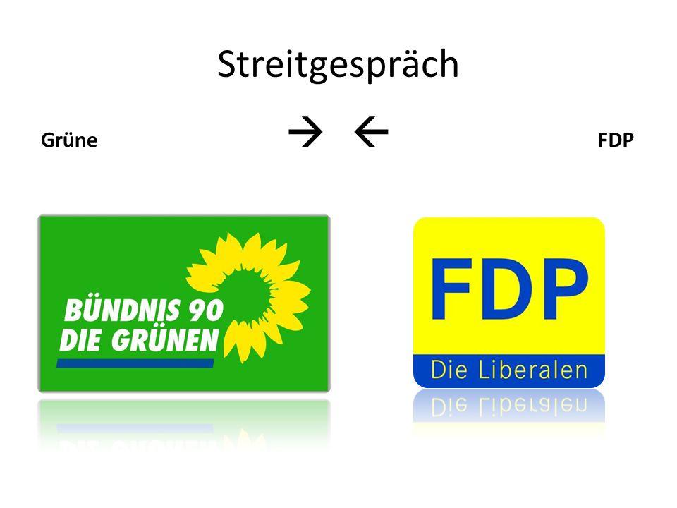 Streitgespräch Grüne   FDP.