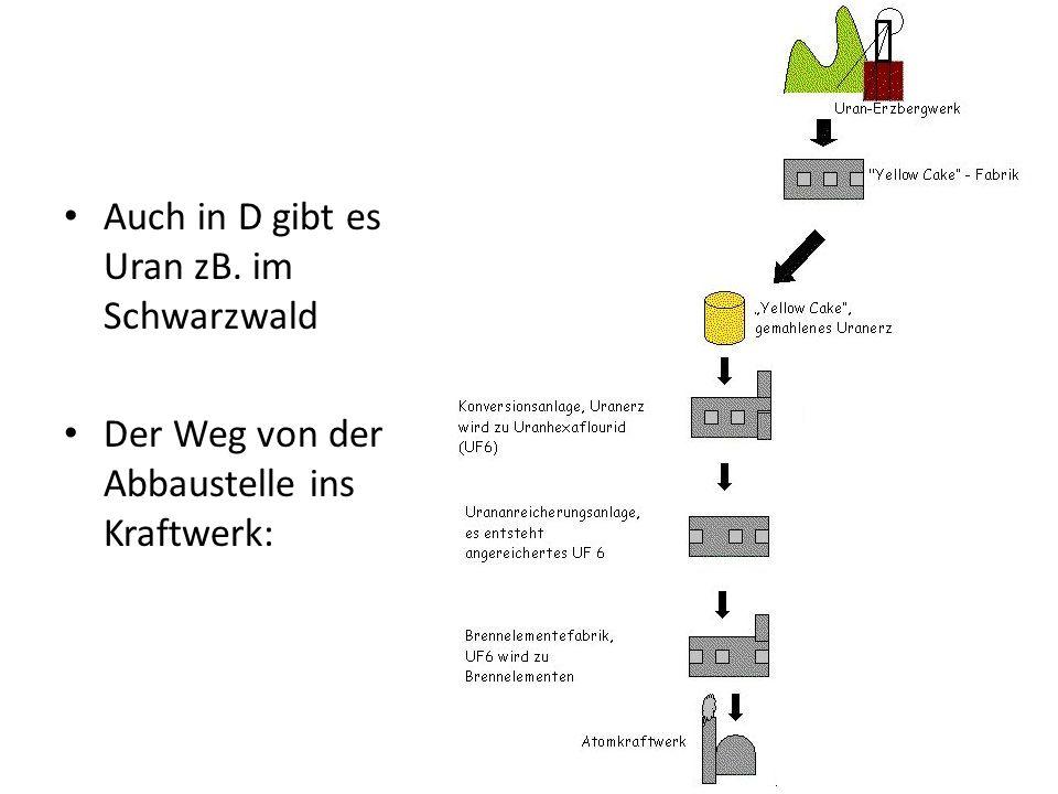 Auch in D gibt es Uran zB. im Schwarzwald