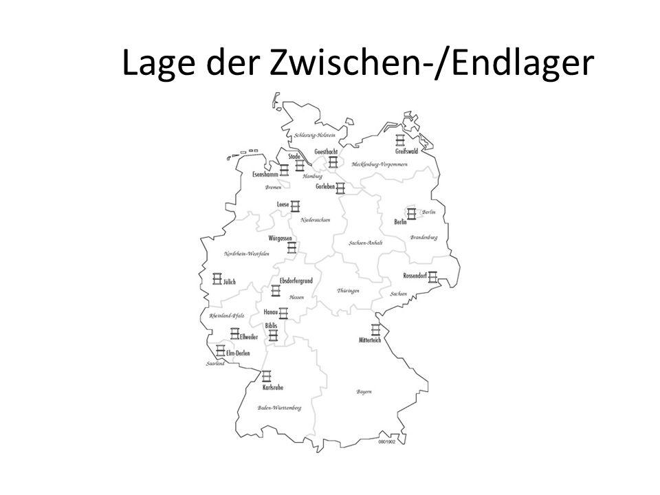 Lage der Zwischen-/Endlager