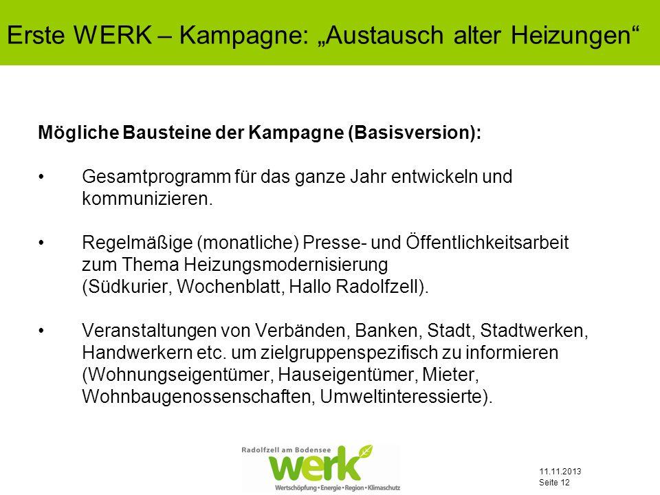 """Erste WERK – Kampagne: """"Austausch alter Heizungen"""