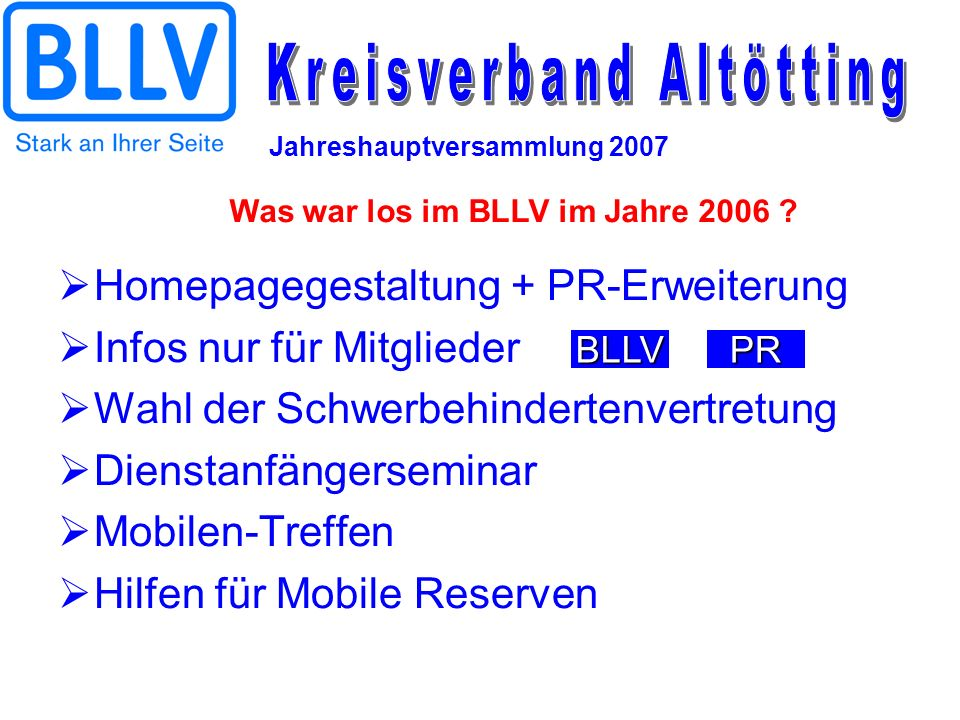 Was war los im BLLV im Jahre 2006