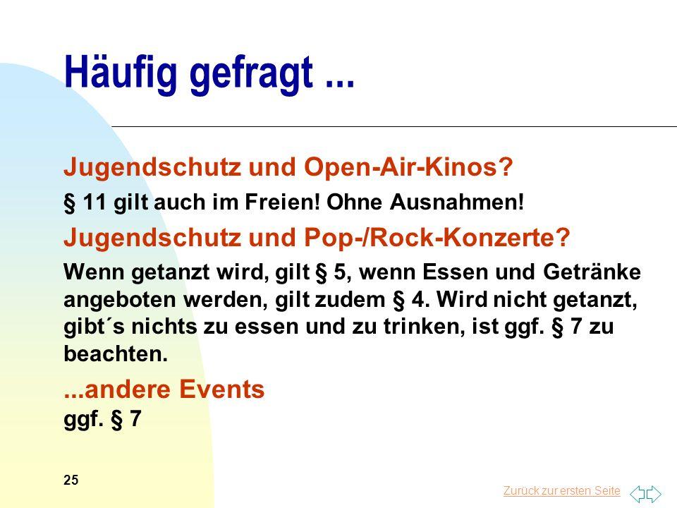 Häufig gefragt ... Jugendschutz und Open-Air-Kinos