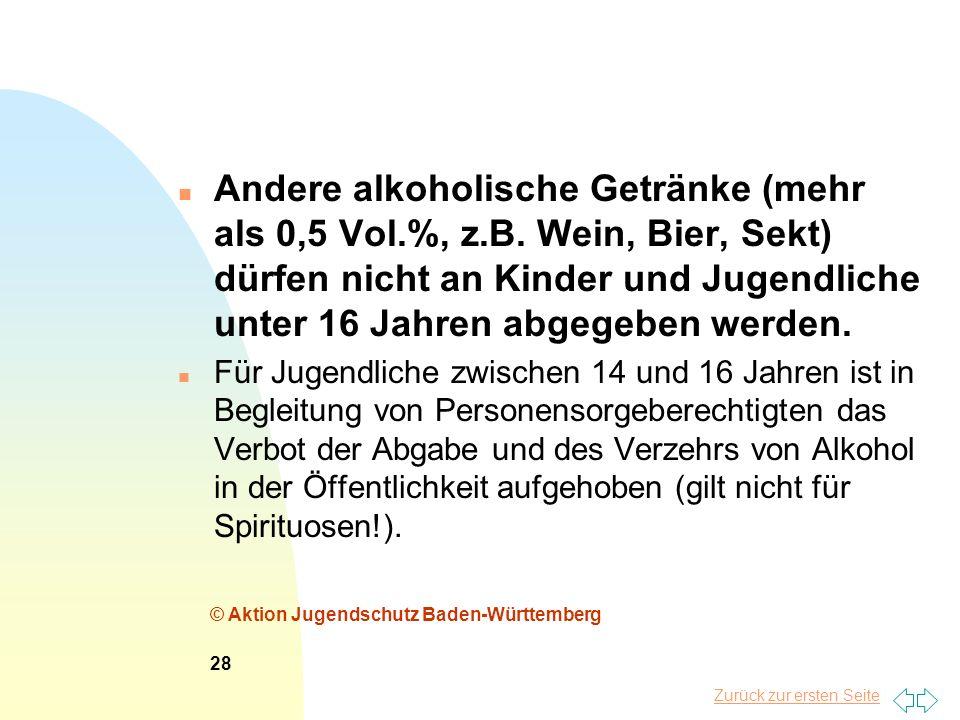 Andere alkoholische Getränke (mehr als 0,5 Vol. %, z. B