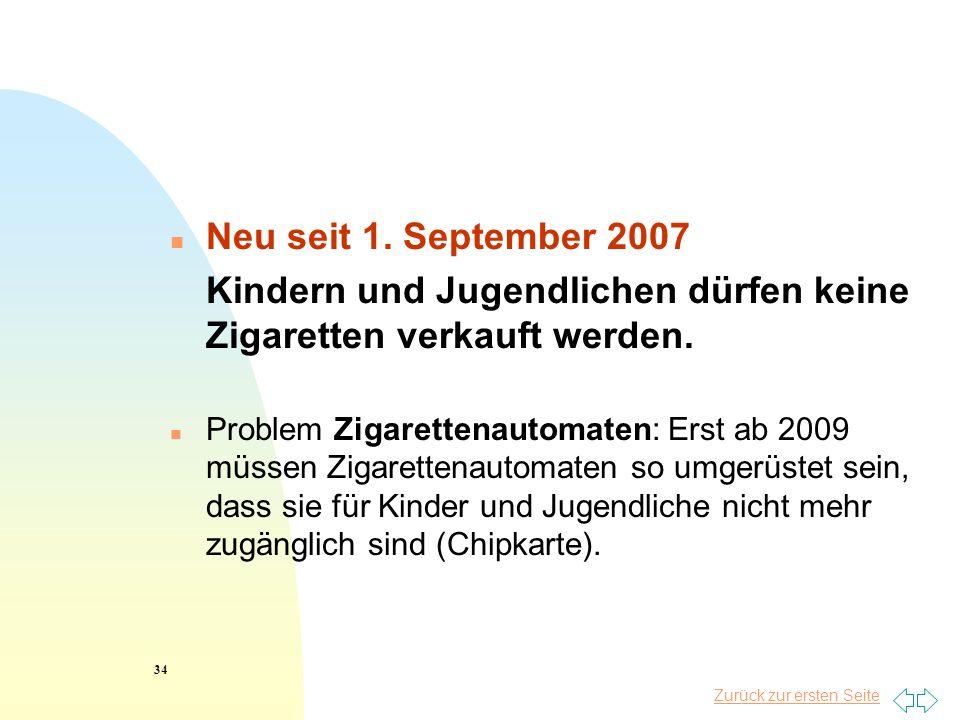 Kindern und Jugendlichen dürfen keine Zigaretten verkauft werden.