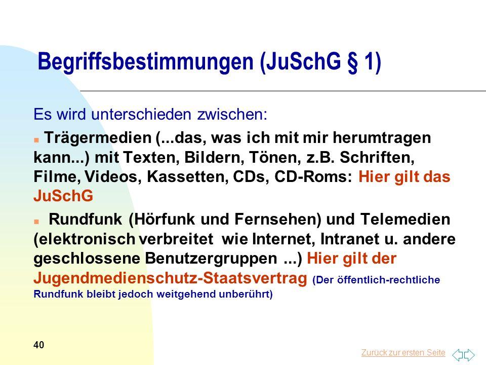 Begriffsbestimmungen (JuSchG § 1)