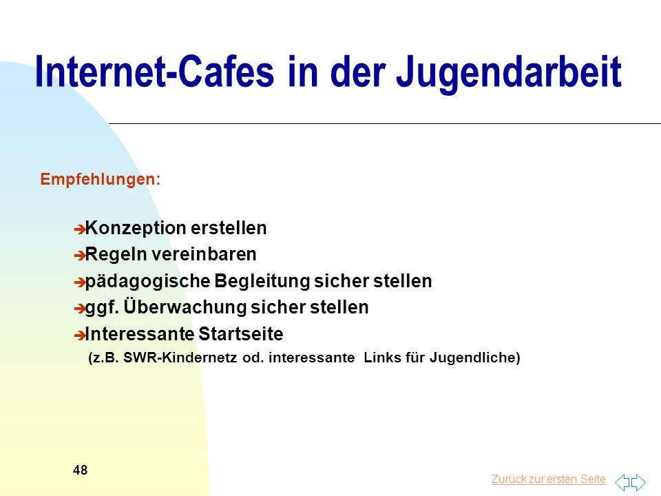 Internet-Cafes in der Jugendarbeit
