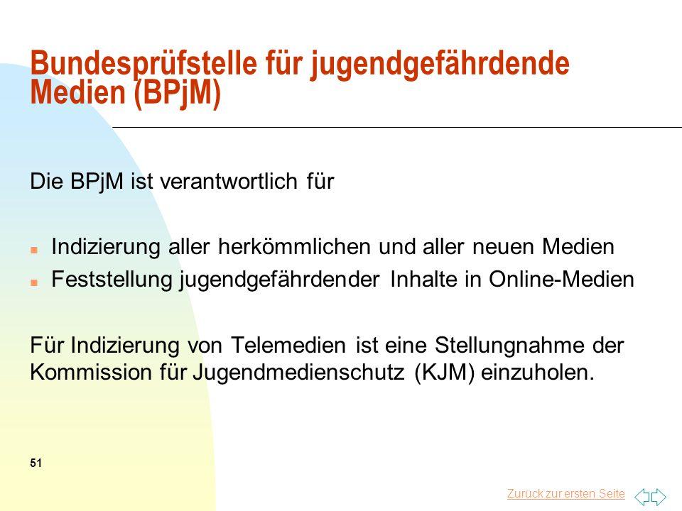 Bundesprüfstelle für jugendgefährdende Medien (BPjM)