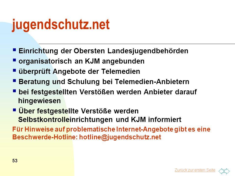 jugendschutz.net Einrichtung der Obersten Landesjugendbehörden