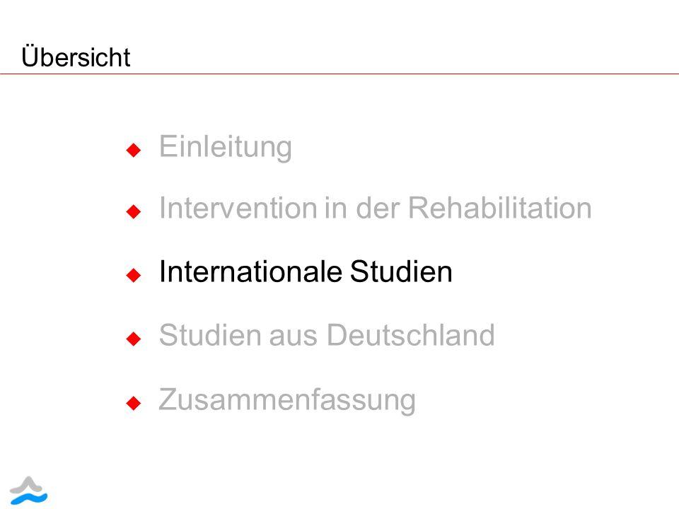 Intervention in der Rehabilitation Internationale Studien