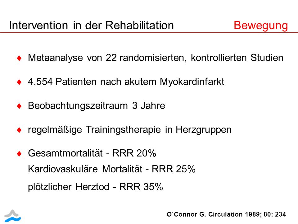 Intervention in der Rehabilitation Bewegung