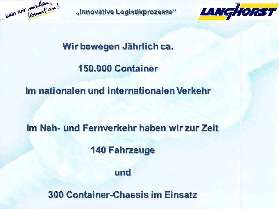 Wir bewegen Jährlich ca. 150.000 Container