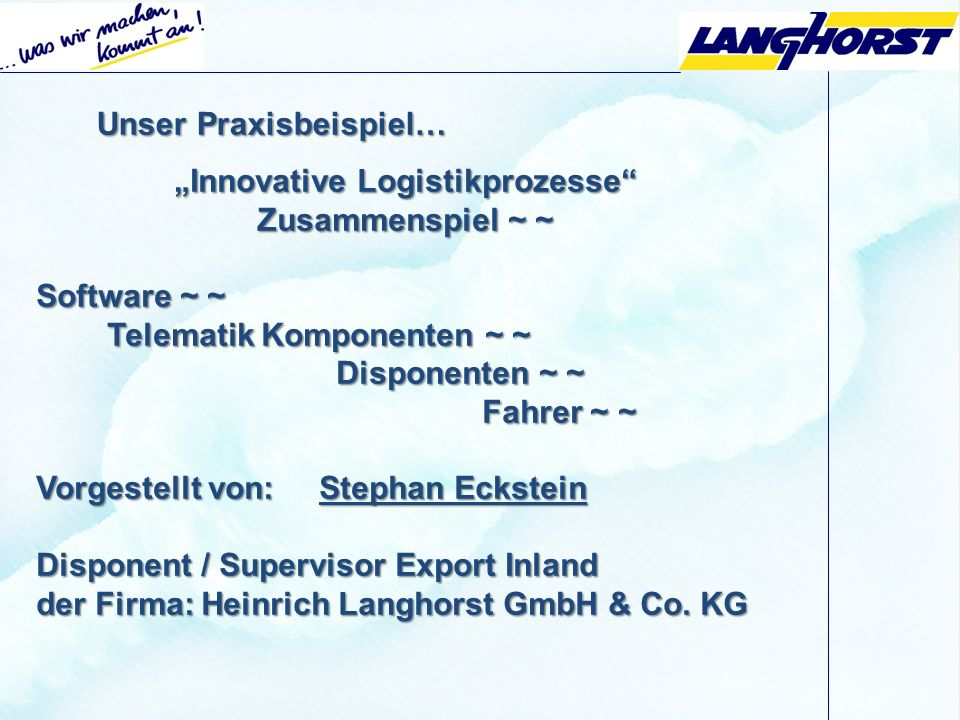 """Innovative Logistikprozesse"