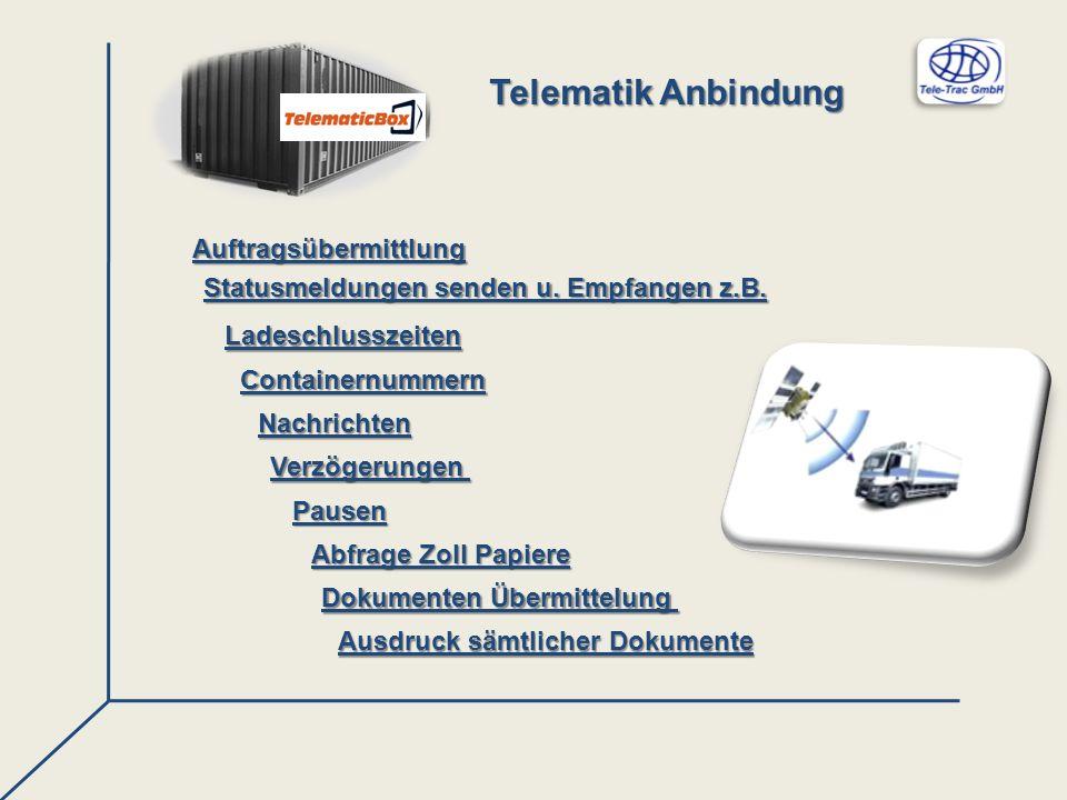 Telematik Anbindung Auftragsübermittlung