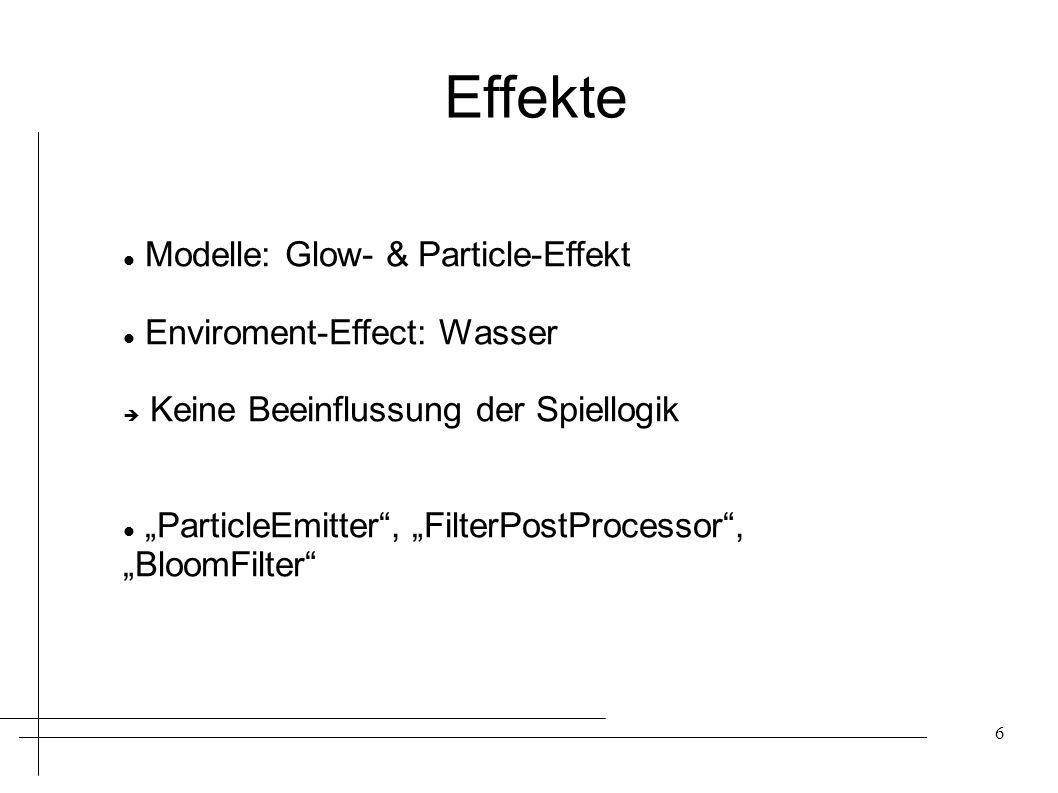 Effekte Modelle: Glow- & Particle-Effekt Enviroment-Effect: Wasser