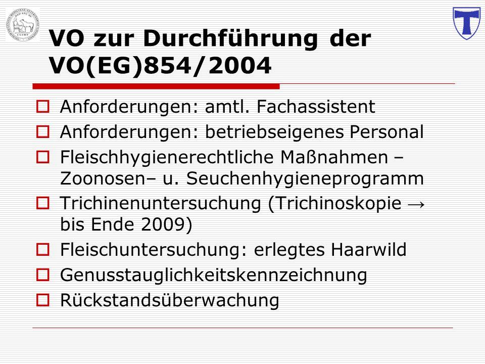 VO zur Durchführung der VO(EG)854/2004