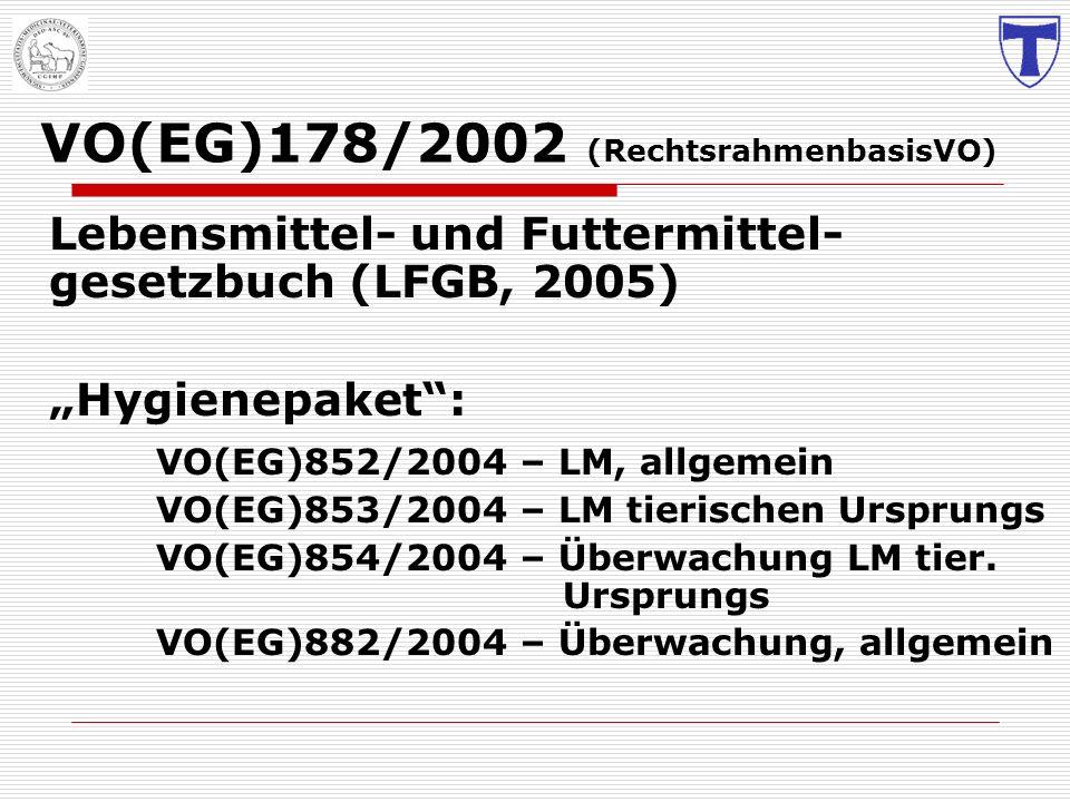 VO(EG)178/2002 (RechtsrahmenbasisVO)