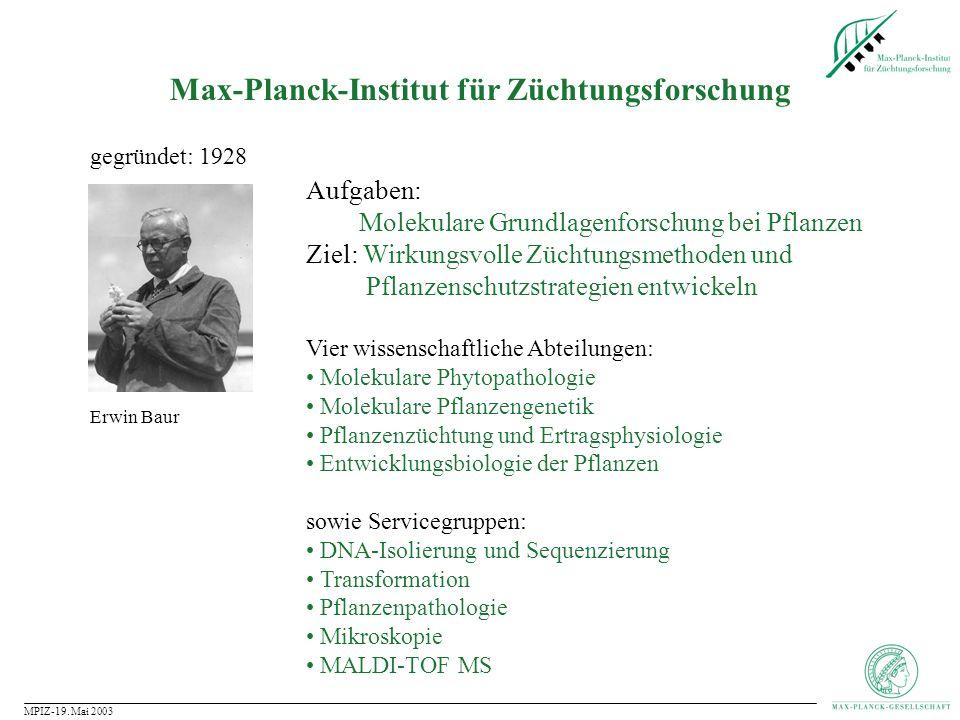 Max-Planck-Institut für Züchtungsforschung