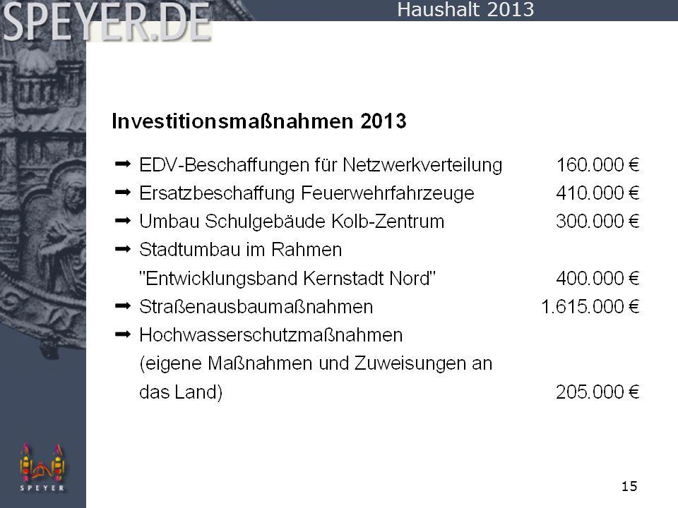 Haushalt 2013
