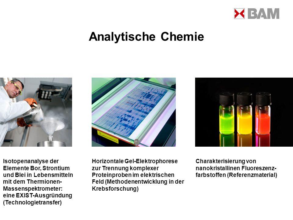 Analytische Chemie Isotopenanalyse der Elemente Bor, Strontium
