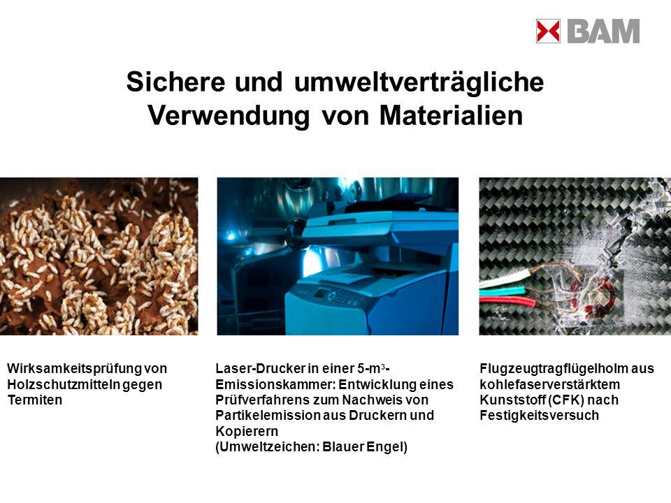 Sichere und umweltverträgliche Verwendung von Materialien