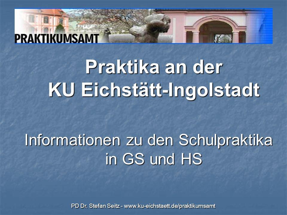 Informationen zu den Schulpraktika in GS und HS
