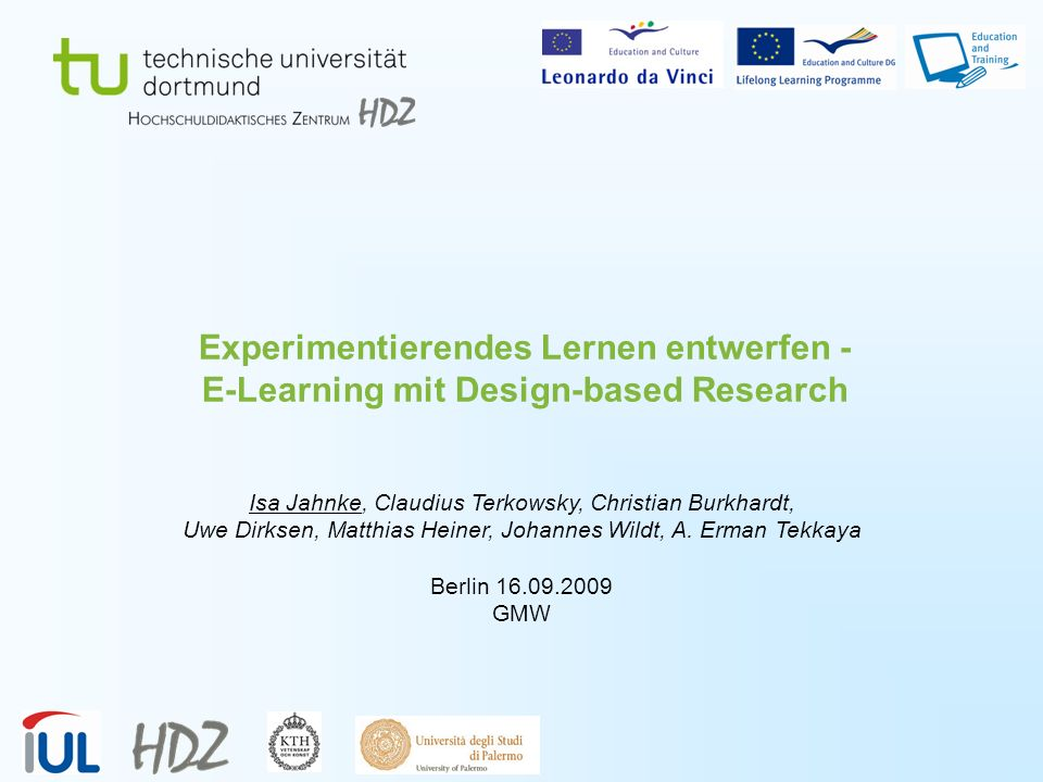 Experimentierendes Lernen entwerfen - E-Learning mit Design-based Research