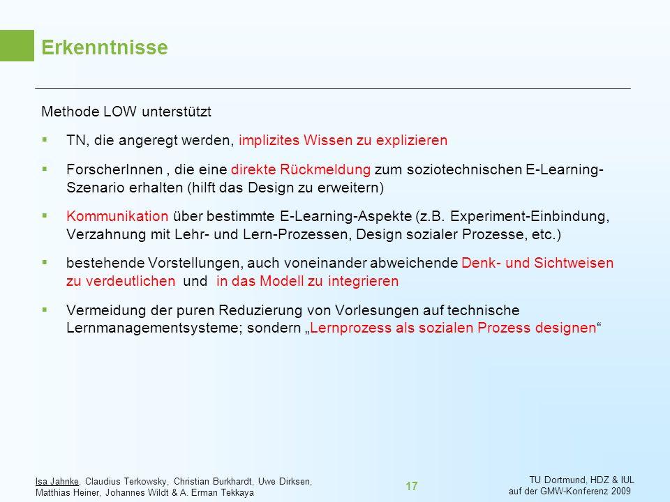 Erkenntnisse Methode LOW unterstützt