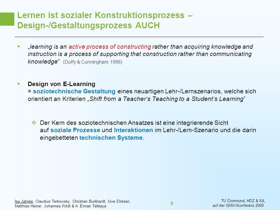 Lernen ist sozialer Konstruktionsprozess – Design-/Gestaltungsprozess AUCH