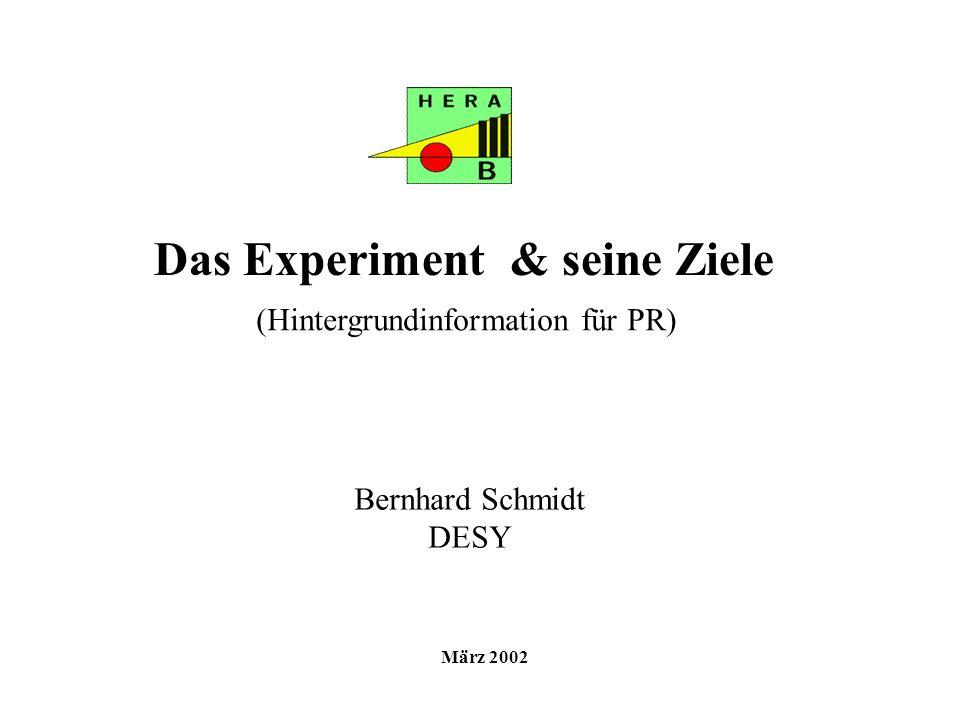 Das Experiment & seine Ziele
