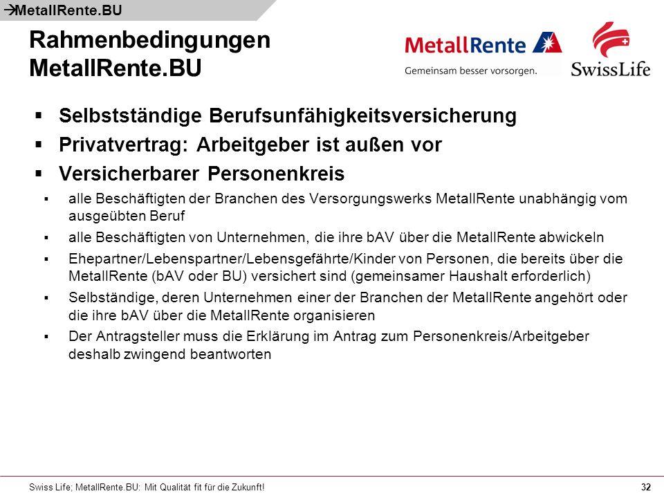 Rahmenbedingungen MetallRente.BU