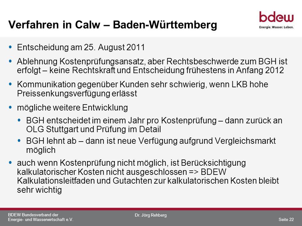 Verfahren in Calw – Baden-Württemberg