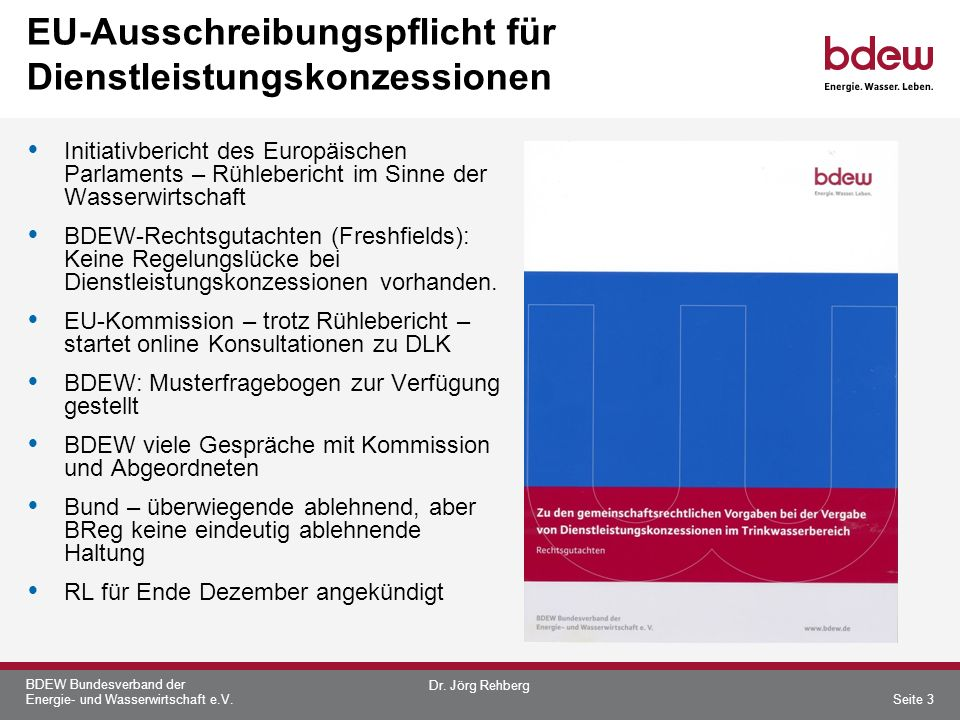 EU-Ausschreibungspflicht für Dienstleistungskonzessionen