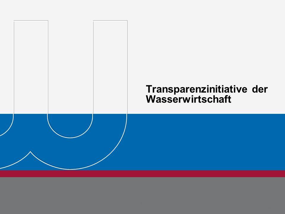Transparenzinitiative der Wasserwirtschaft