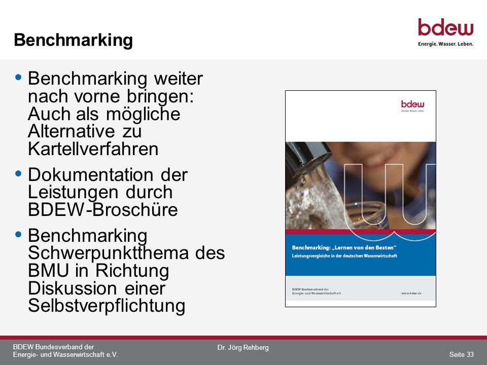 Dokumentation der Leistungen durch BDEW-Broschüre