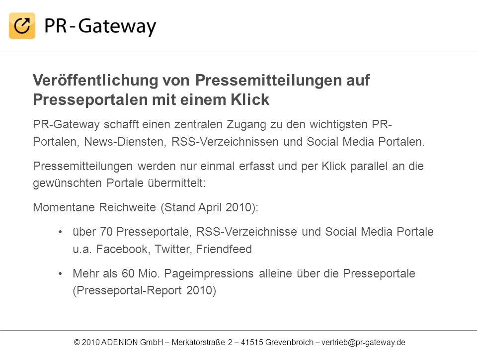 Veröffentlichung von Pressemitteilungen auf Presseportalen mit einem Klick